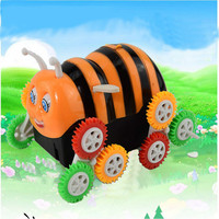 Newest Inertial bee Car With Bells Creative Baby Rattle Safety Teether 2 Colors Children Birthday Gifts Toy