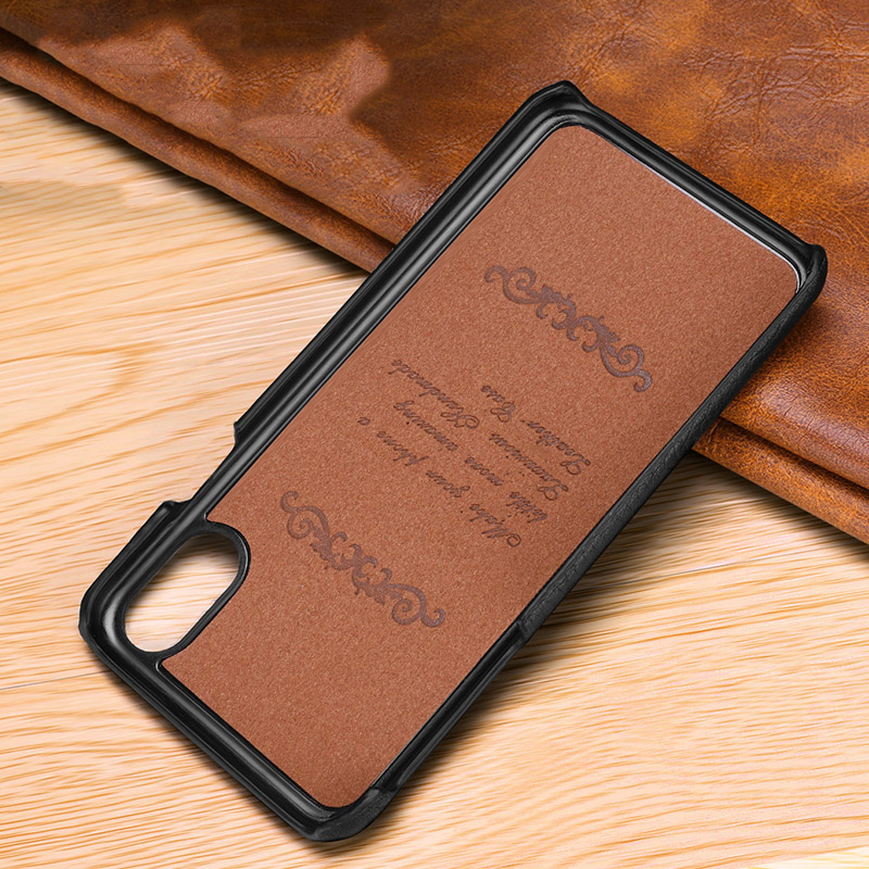 Image 5 - First layer cowhide Business Genuine Leather case cover For Iphone XS MAX XS XR X Matte Phone CaseFitted Cases