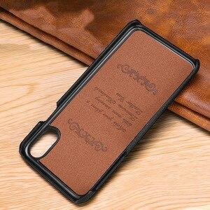 Image 5 - שכבה הראשונה עור פרה אמיתי עסקי עור מקרה כיסוי עבור Iphone XS מקס XS XR X מט טלפון מקרה