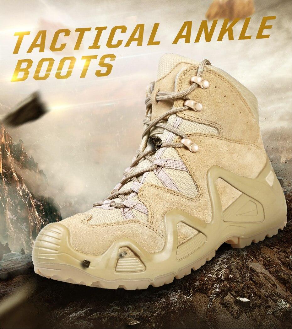 Eu 39-46 Men Outdoor antiscivolo Grandi Dimensioni desert boots Trekking Escursionismo antiscivolo indossare scarpe militari stivali alla caviglia ammortizzatore