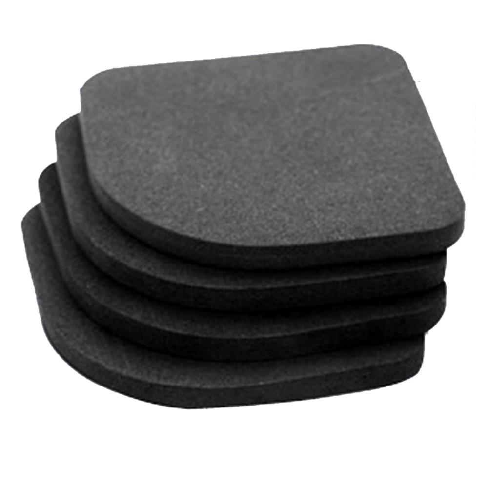 Refrigerator Non-slip Anti-vibration Mats Bathroom Accessories 4pcs/set Black Multifunction Washing Machine Shock Mute Pads