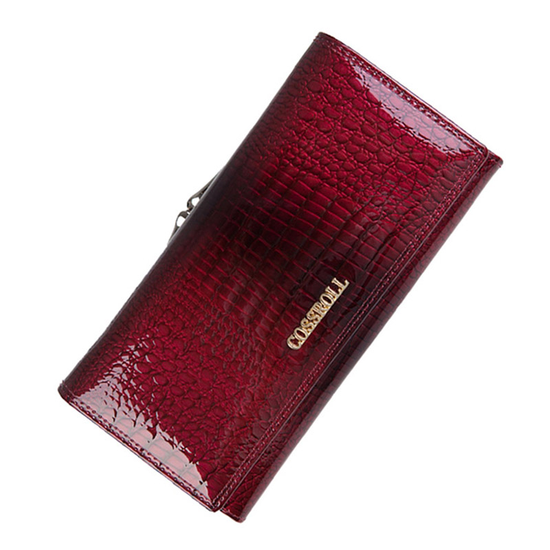 купить Genuine Leather Wallet Women Classic Alligator Hasp Long Wallets Female Cards Holder Clutch Bag Fashion Cowhide Ladies Purses по цене 875.81 рублей
