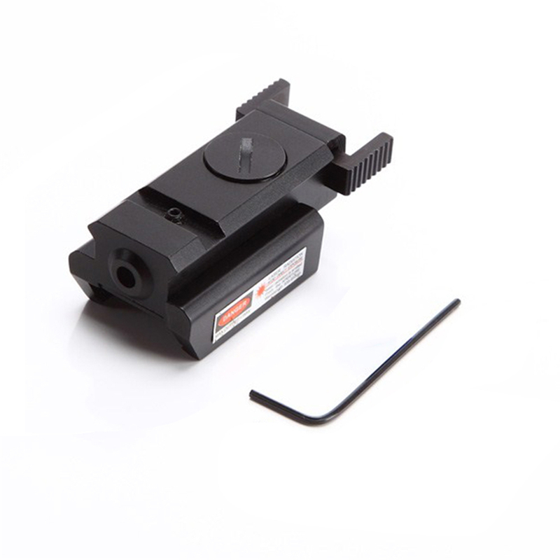 20mm/11mm Red láser de punto vista alcance carril caza reflejo alcance táctico óptica aire Rifle puntero láser