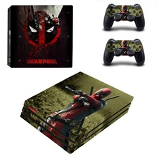 Film Deadpool Decal PS4 Pro Skin Sticker and Controllers PS4 Pro Skins Stickers Vinyl