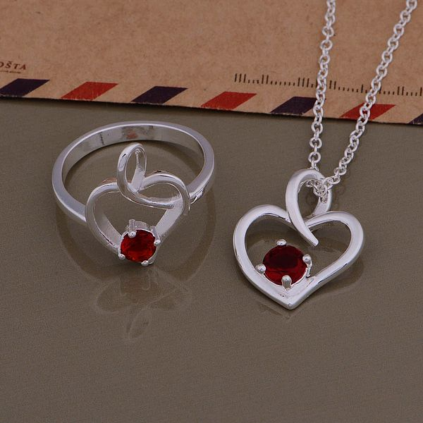 AS424 Hot 925 sterling  silver Jewelry Sets Ring 693 + Necklace 1011 /aqqajhxa axdajoka