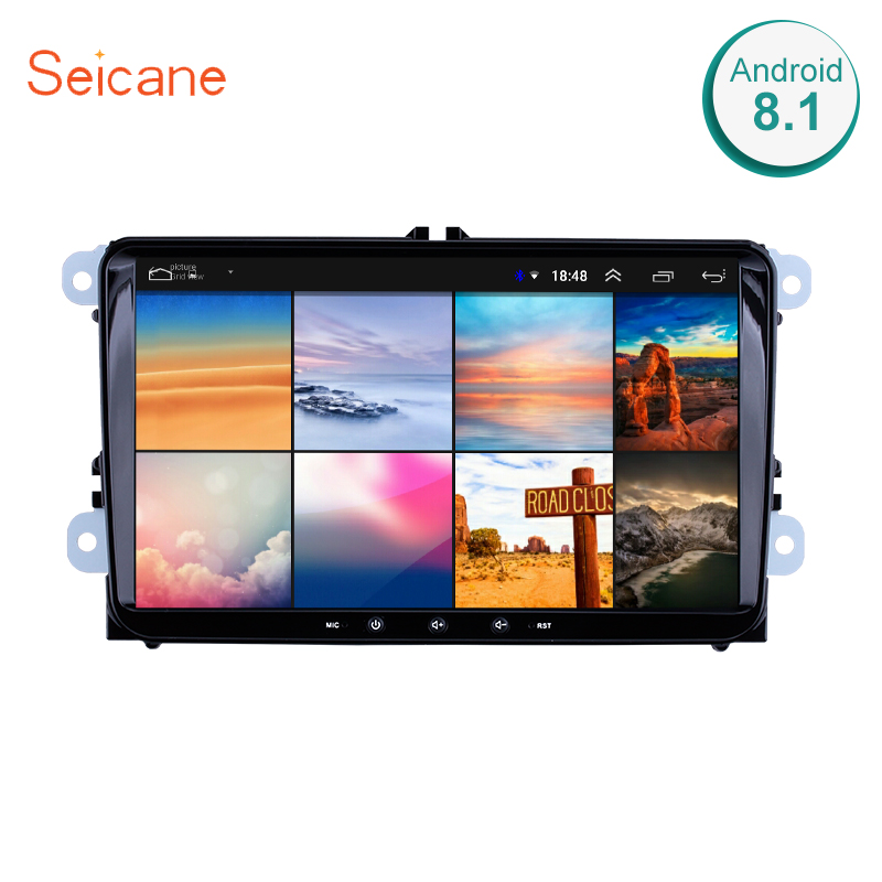 Seicane Android 8 1 2Din Car Multimedia player For VW Volkswagen Golf Polo Tiguan Passat b7