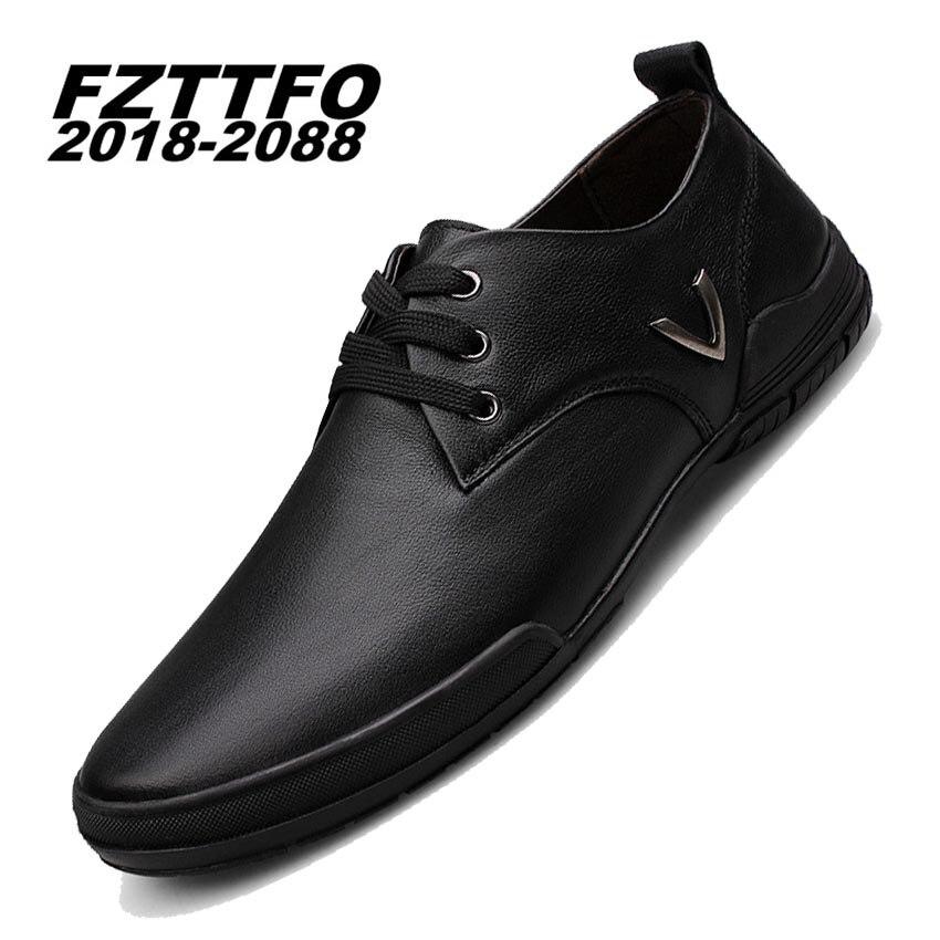 Hombres 100% Zapatos de Conducción de Cuero Genuinos, Nuevos Mocasines Lace Up Z