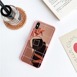 Luxury Fundas Phone Case for iPhone Xs Max Xr Mirror Case 2018 Soft TPU Protector Case iPhone Xs 6 6s 7 8 Plus Back Cover 3