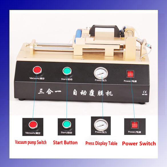 3-in-1 Automatic OCA Film Laminating Machine With Built-in Vacuum Pump and Air Compressor For LCD Screen Repair 2016 latest universal built in vacuum pump oca polarized film laminating machine for repair lcd touch screen of galaxy iphone