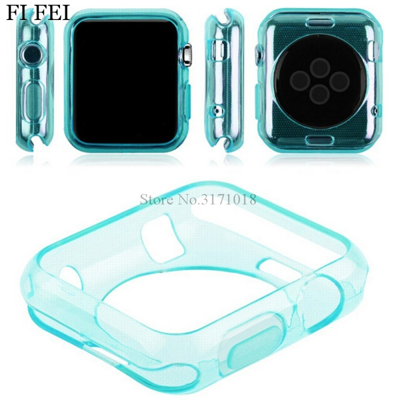 FI FEI Ultra-thin Silicone TPU Protector Case Cover Skin Shell for Apple Watch Series 1 2 3 38mm 42mm Accessories coque series 1 2 3 soft silicone case for apple watch cover 38mm 42mm fashion plated tpu protective cover for iwatch