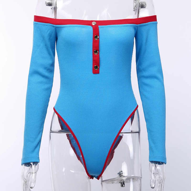 Toplook Sexy Bodysuit mujeres 2019 Slash cuello Patchwork Otoño Invierno ropa moda Streetwear mujer Club fiesta trajes cuerpo