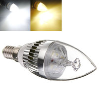 10PCS Bright E14 E27 LED Candelabra Crystal Candle Light Energy Saving Lamp AC 220V White Warm