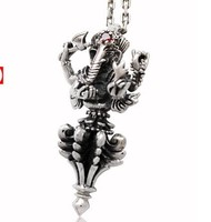 Authentic Thailand Silver Elephant God Ganesha Vajra Silver Silver Pendant Necklace Pendant