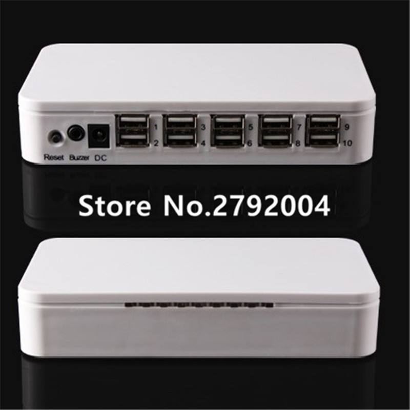 8-port mobile phone charging security display system,multi ports anti theft alarm security system