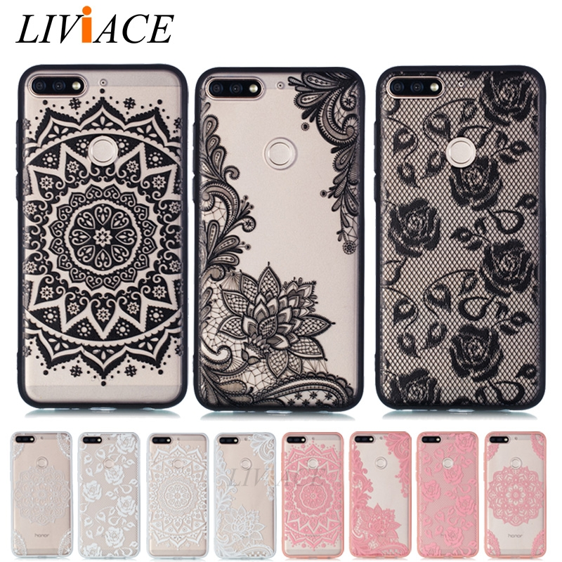 <font><b>3D</b></font> lace flower case for HUAWEI <font><b>honor</b></font> <font><b>7A</b></font> pro 5.7 5.45