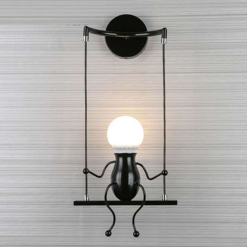 Modern led Wall Lamp LivingRoom Iron led Vanity Light Bedroom Bedside Wall Sconce Bathroom led Mirror Light Industrial Wall Lamp metal wall light industrial decoration bedside lights art deco wall sconce make up wall light modern wall lamp wrought iron