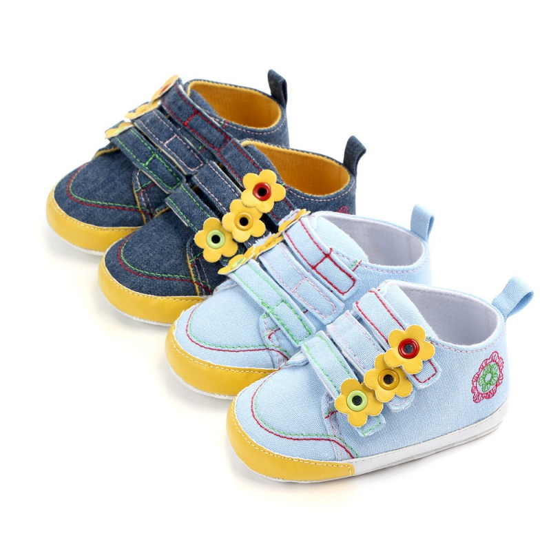 0-12M Baby Infant Shoes Girls Soft Casual Flats Shoes Newborn Toddler Flower First Walker Sole Anti-Slip Spring Autum Shoe