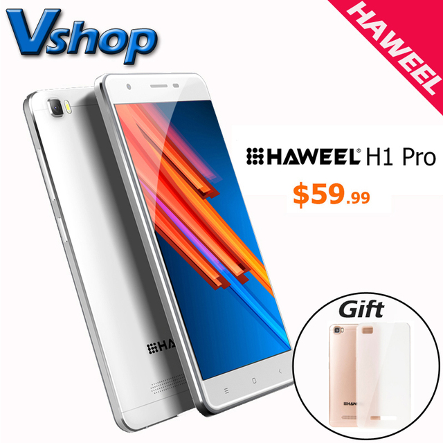 Original HAWEEL H1 Pro 4G LTE Android 6.0 1GB RAM 8GB ROM MTK6735 Quad Core 1.2GHz 5.0 inch 720P Dual SIM Mobile Phone