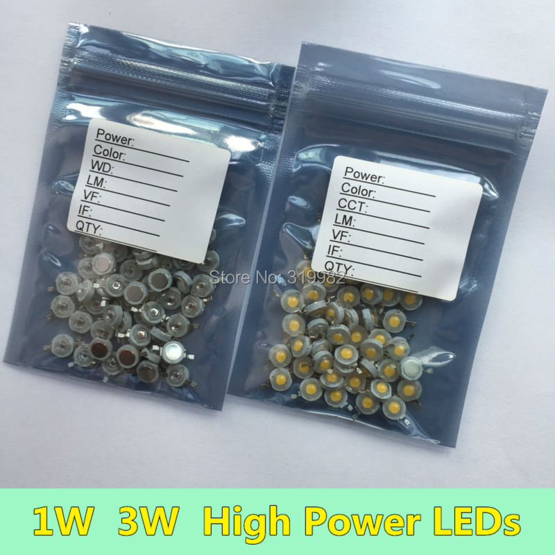 50 PCS 1W 3W Red Yellow Deep Red Orange High Power LEDs 350ma 700ma Chip Wavelength 620nm 630nm 660nm 590nm for LED Grow Lamp