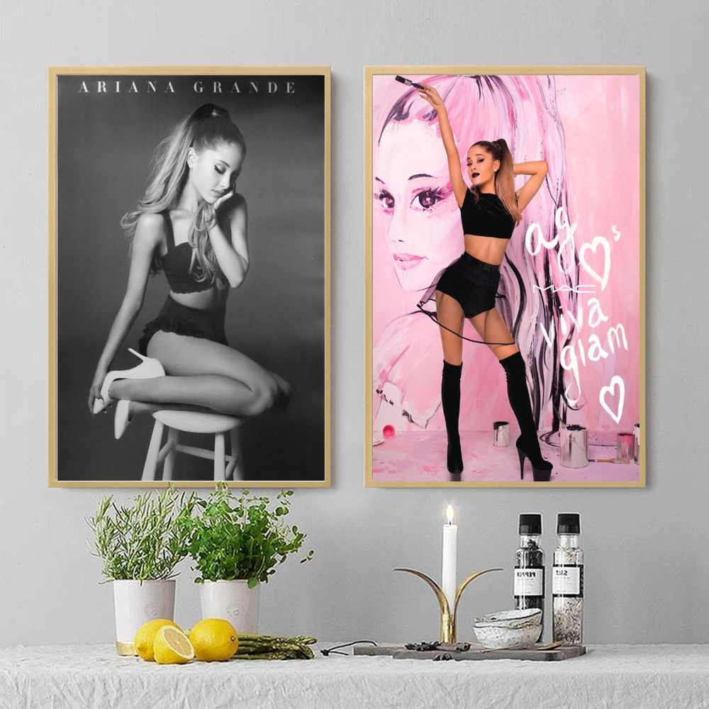 Sexy ariana grande vintage canvas art print painting poster wall pictures for living room home decoration