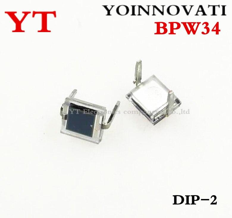 10pcs BPW34 ORIGINAL Silicon PIN Photodiode DIP-2 NEW