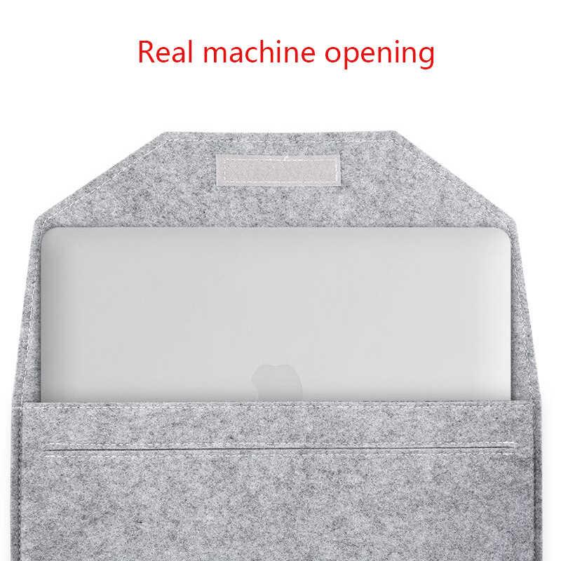فائقة النحافة الصوف غطاء حاسوب محمول مصنوع من اللباد شنطة لحمل macbook الهواء 13 حالة برو الشبكية 11 12 15 جراب هاتف شاومي سامسونج لينوفو Asus دفتر