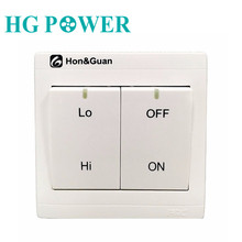 Fan Speed Switch Controller Inline Exhaust Wall Dual Duct Regulator Push Button Low/High Model