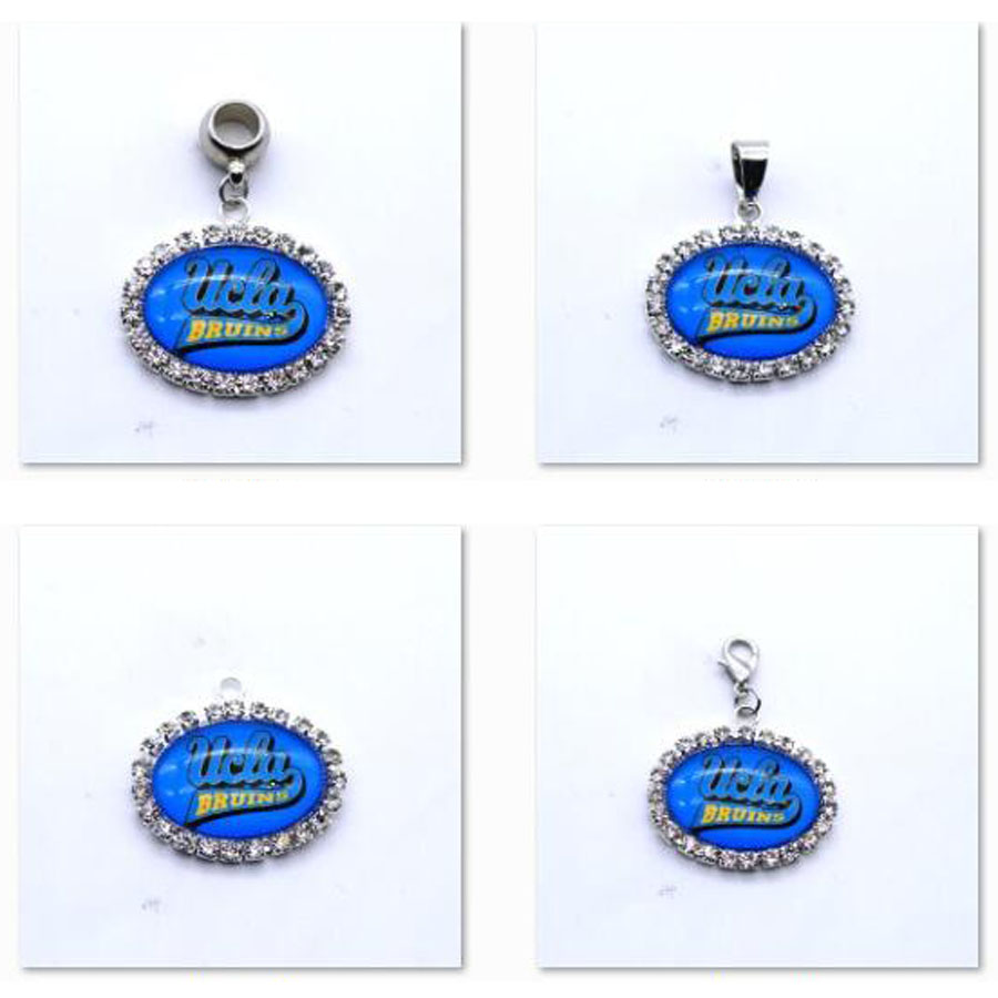 Pendant Charms Rhinestone <font><b>UCLA</b></font> Bruins Charms for Bracelet Necklace for Women Men Football Fans Paty Fashion image