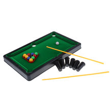 Lightweight Mini Tabletop Pool Table Set Billiards Toy Snooker Game Desktop for Child Kids Gift Suitable for Indoor and Outdoor(China)