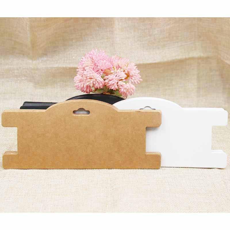 ZerongE Jewelry DIY Kraft/white/black Chocker Necklace Packing Card Blank Headband Accessories Display Card 30pcs Per Lot