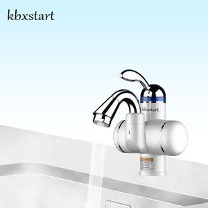 Image 1 - Kbxstart Электрический нагреватель горячей воды, кран для ванной комнаты с поворотом на 180 градусов, 220 В