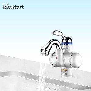 Image 1 - حوض استحمام صغير الحجم من Kbxstart صنبور كهربائي فوري سخان مياه ساخنة يعمل بدورة 180 فولت صنبور ساخن يعمل بتدفئة المياه بقدرة 220 فولت
