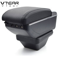 Vtear For MorrisGarages MG ZS armrest USB Charging interface heighten central Store content box cup holder ashtray accessories