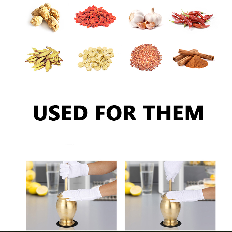 Image 5 - Pestle and Mortar Set Pure Copper Mills Mincers for Kitchen  Grinding Salt Pepper Nutmeg Cinnamon Chocolate Herb Paste Grain  RiceMills