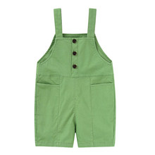 kid Boys summer new clothes children's bibs wild pants 3-5 T baby girls overalls casual trousers jumpsuit one-piece(China)