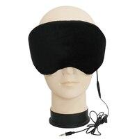 Czarny Zasłanianie Oczu Ciemne Reszta Relax Muzyka Słuchawki Pomocy Snu