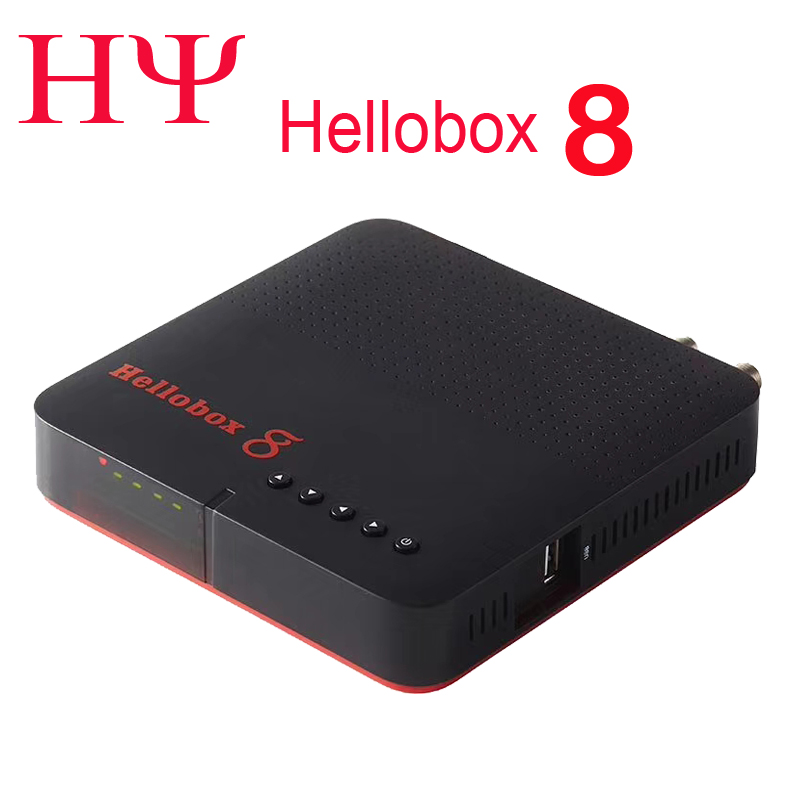 1pc Hellobox 8 satellite receiver DVB T2 DVBS2 Combo TV Box Twin Tuner Support TV Play