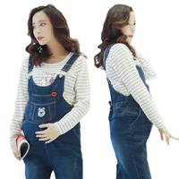 Maternity Denim Prop Belly Jumpsuit Pregnant Women Spring Autumn Overalls Suspender Trousers Jeans Roupa Gestante