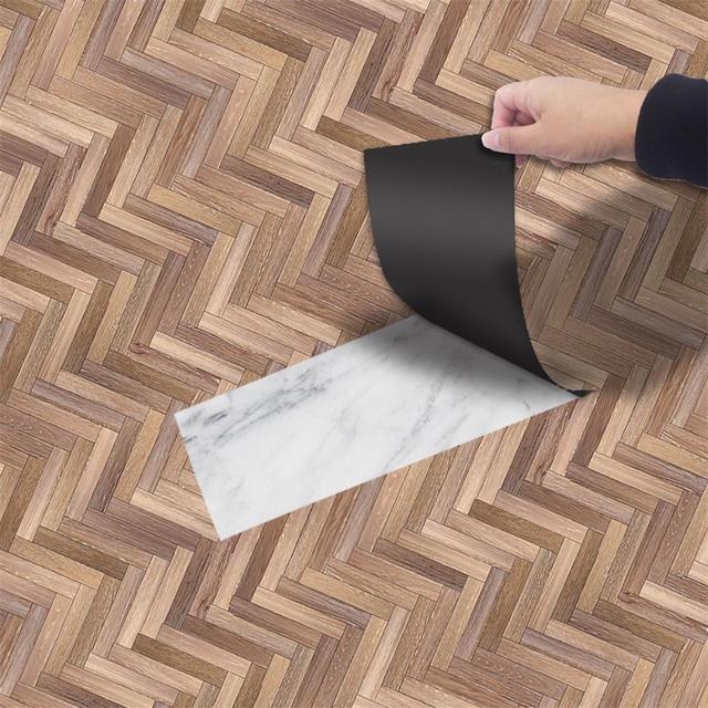 Diy Imitation Wood Floor Tile Sticker Waterproof Anti Skid Scratch Wall Stickers Decorative