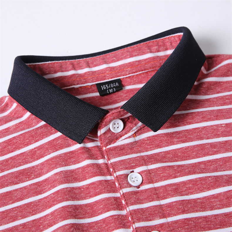 2Color Summer Cotton Polos Men 2019 New Short Sleeve Casual Korean Style Striped Male Polo Shirts Breathable MuLS Brand Clothing 5