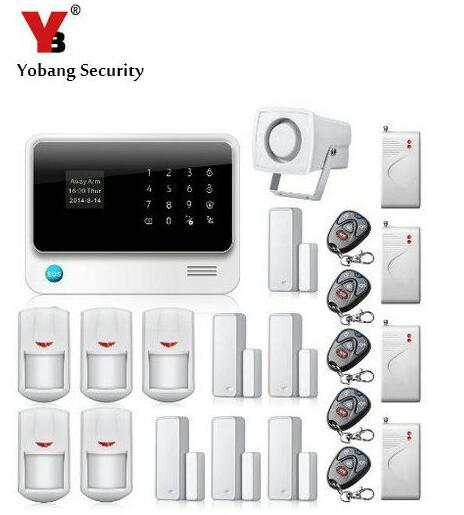 YobangSecurity Intruder WIFI GSM Alarm Systems Security Home Android IOS APP Control PIR Detector Door Shock Sensor yobangsecurity 2 4g touch keypad wireless wifi alarm system security home ios android app remote control gas leakage detector
