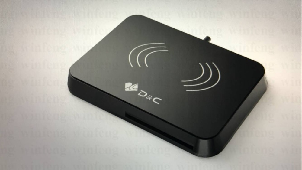NFC Reader Writer IC Card Reader RFID 13.56 Mhz Smart Card Reader Writer With USB Interface And 4 Sam Slots цена