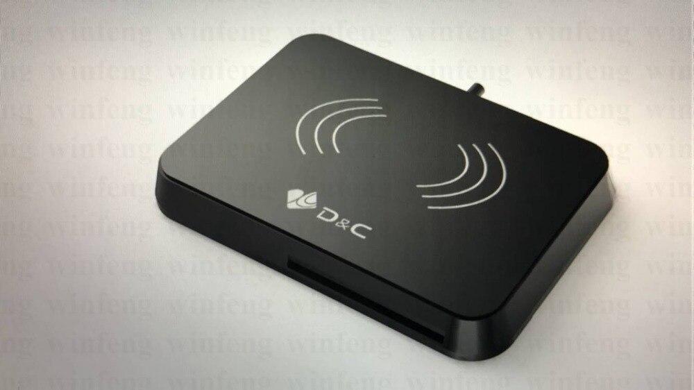 NFC Lecteur Écrivain IC Lecteur de Carte RFID 13.56 Mhz Lecteur de Carte À Puce Écrivain Avec Interface USB Et 4 Sam Slots