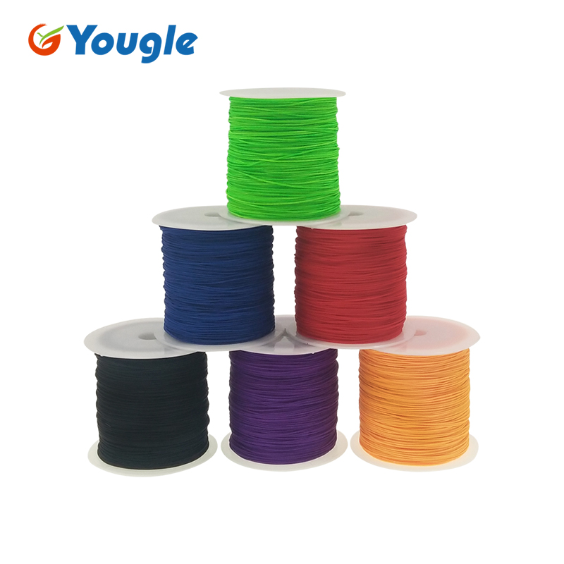 YOUGLE 0.75mm 100% Nylon 1 Strand Paracord Parachute Cord Fishing Line Tent Fixed Survival Rope Lanyard Rope 100M 328FT 95LBYOUGLE 0.75mm 100% Nylon 1 Strand Paracord Parachute Cord Fishing Line Tent Fixed Survival Rope Lanyard Rope 100M 328FT 95LB