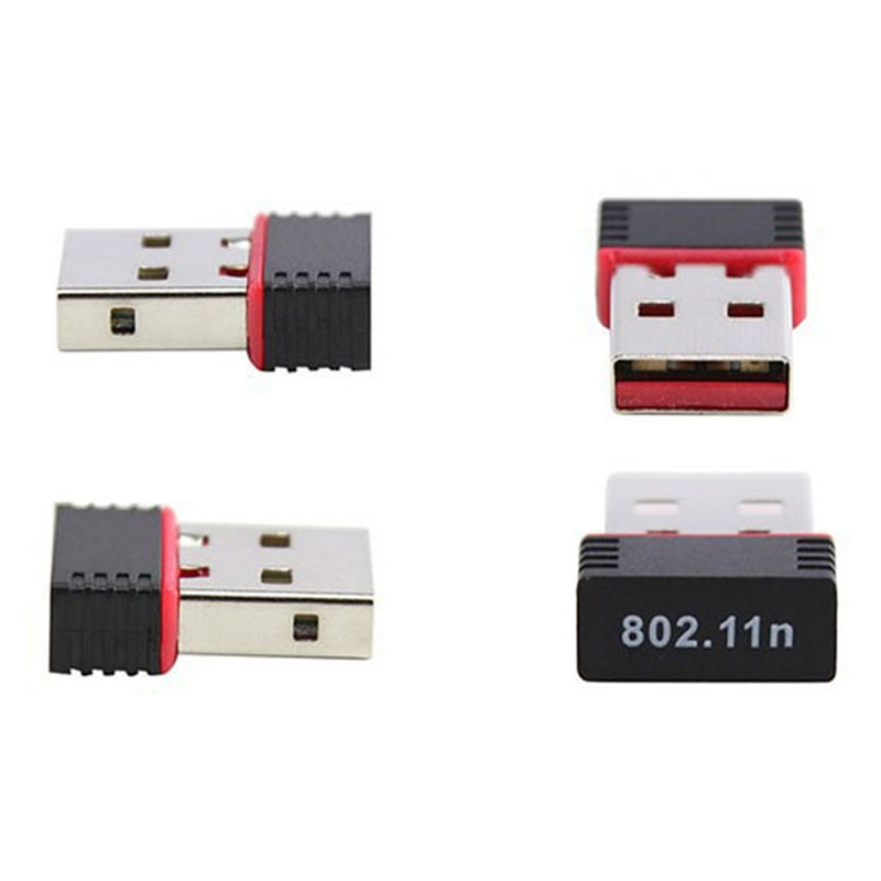 Mini USB Wireless Adapter Card 150Mbps Antenna Computer For Windows XP/Vista/7/8/Linux Macos EM88