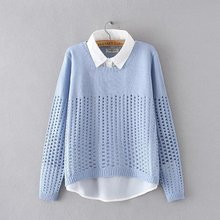 New plus size women shirt collar fake sweaters Spring and Au