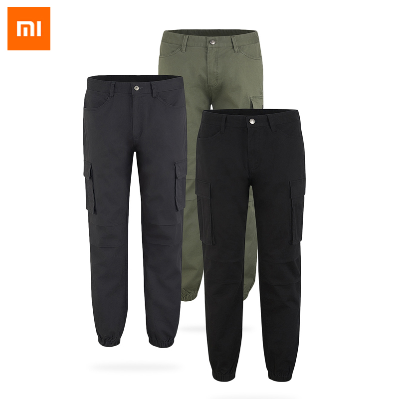 New Xiaomi MITOWN LIFE Trousers Loose Trend Beam Foot ComfortableLarge Pocket Stitching Casual Comfortable Tooling Pants