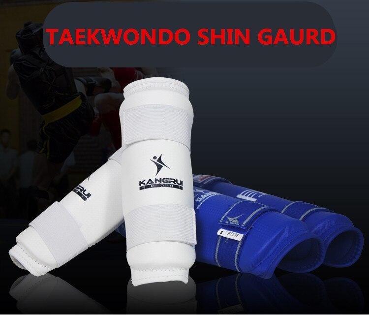 Тхэквондо щитки популярная модель Kangrui ногу защитные щитки удары в боксе Муай Тай карате Санда ММА взрослых детей хвостовик гвардии