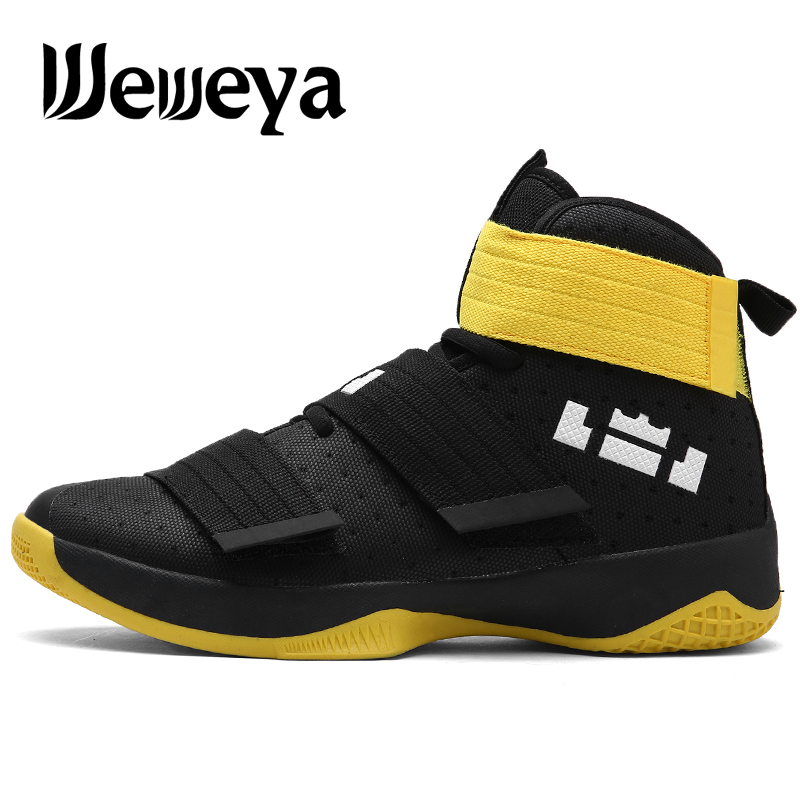 2019 New Men's basketball Shoes Zapatillas Hombre Deportiva Yellow Breathable Men Ankle Boots Basketball Sneakers Athletic Shoes(China)