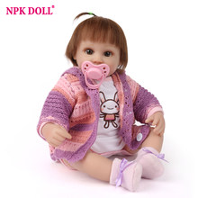 NPK DOLL Reborn Baby 45cm Lifelike Bebe Gift Doll Reborn Baby With Soft Cotton Body Fashion Dolls For Girls Toys Gift Brinquedos(China)